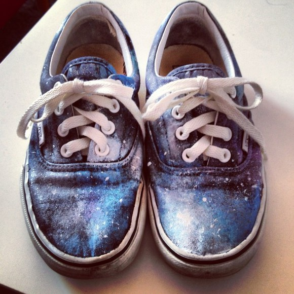 shoes basket galaxy vans galaxy