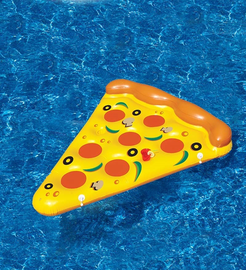 pizza slice inflatable pool float in water pool toys. Black Bedroom Furniture Sets. Home Design Ideas