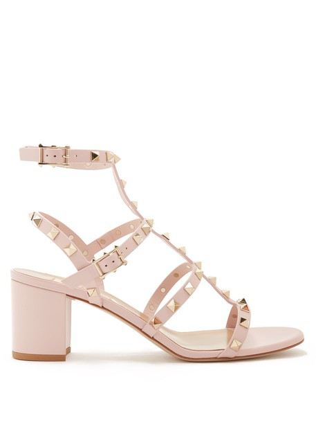 Valentino sandals leather sandals leather light pink light pink shoes