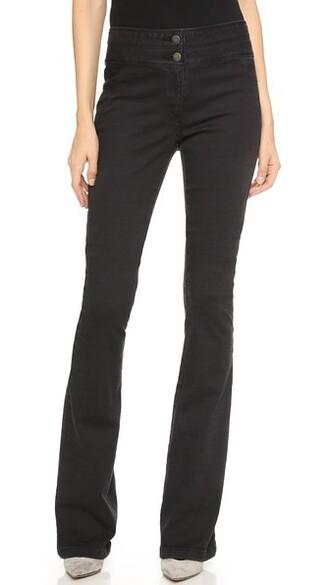 pants flare grey