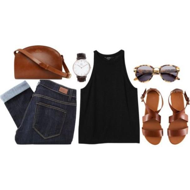 shoes shirt tank top