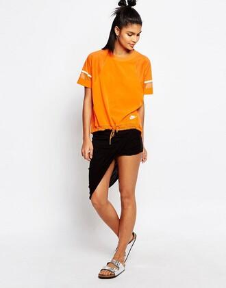 top sportswear sports top orange nike