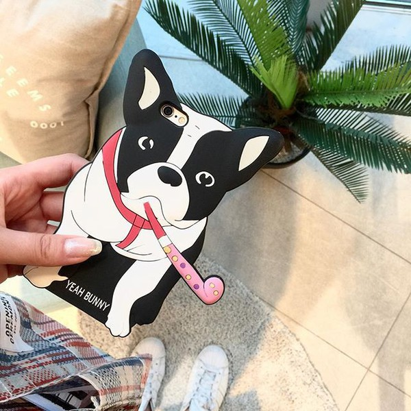 phone cover yeah bunny iphone case iphone dog frenchie bimber 3dcase cute