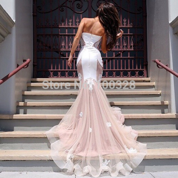 Aliexpress.com : buy 2015 new fashionable vestido de noiva floor length sleeveless custom made mermaid sweetheart appliques backless wedding dresses from reliable dress code wedding suppliers on rose wedding dress co., ltd