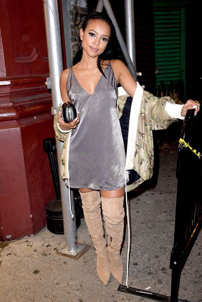 Dress Boots Mini Dress Karrueche Jacket Summer Dress
