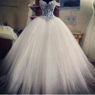 tulle dress puffy dress puffy princess wedding dresses princess dress bustier wedding dress white dress wedding dress tulle wedding dress