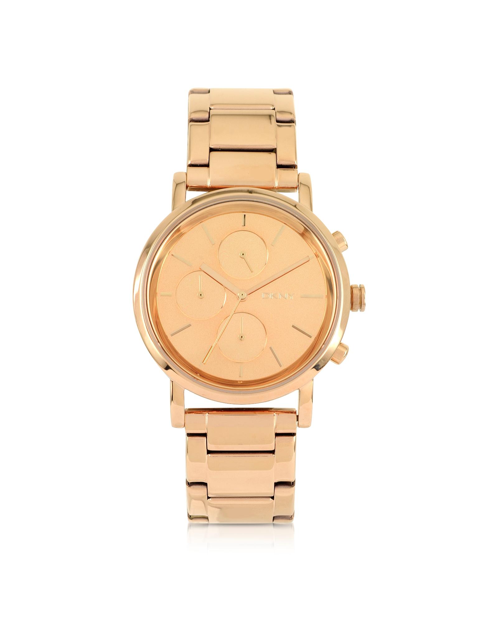 DKNY Soho Rose Golden Stainless Steel Chronograph Women's Watch
