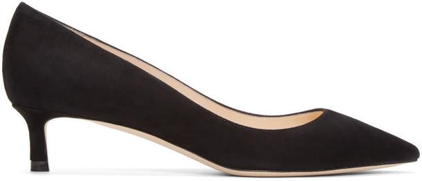 Jimmy Choo heels suede black shoes