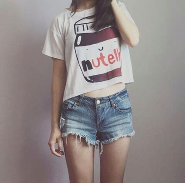 t-shirt nutella t-shirt with print white dress shirt