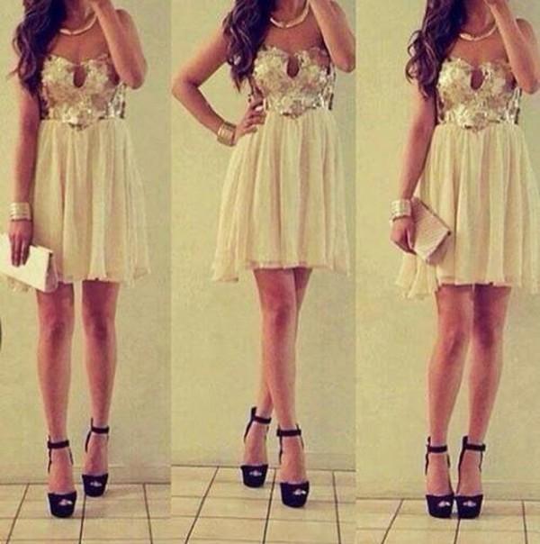 prom dress mini dress party dress night classy nude brillant jewels shoes bag jumpsuit