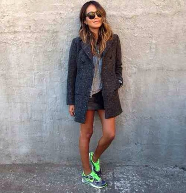 t-shirt grey t-shirt coat shirt skirt shoes jacket
