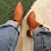 shoes,gojane,booties,boots,mules,mule shoes,chestnut