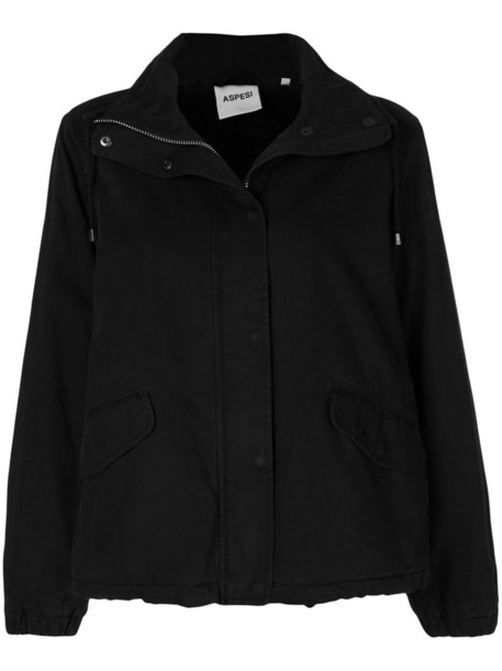 ASPESI jacket high women cotton black