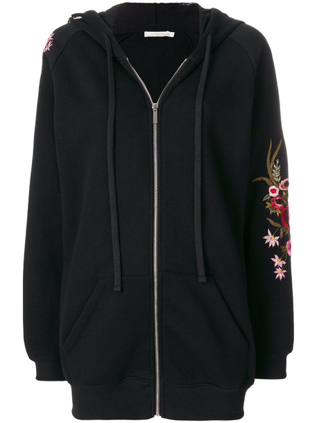 Amen sweater embroidered women floral cotton black