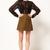Military Green Woolen SkirtMilitary Green Woolen Skirt - FOYMALL
