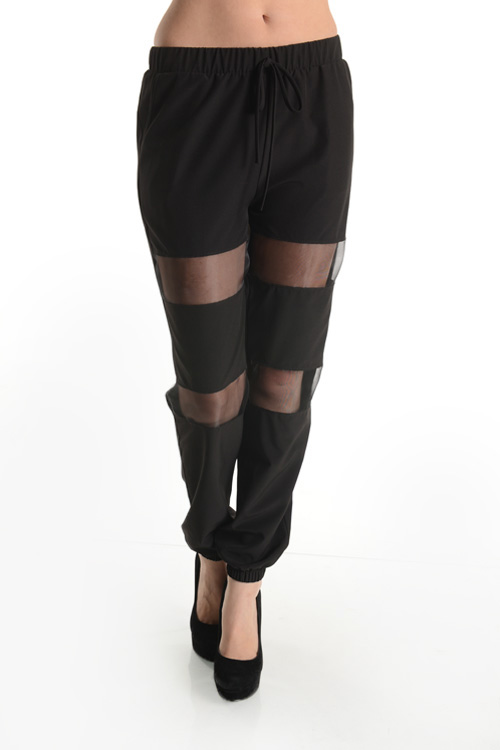 Relaxed mesh black pants · trendyish · online store powered by storenvy