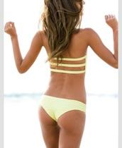 swimwear,yellow,bikini,summer,yellow swimwear,style,bikini top