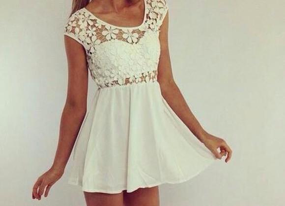 dress white dress dentelle dentelle dress short dress