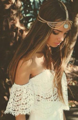 hair accessory hippie headpiece chain