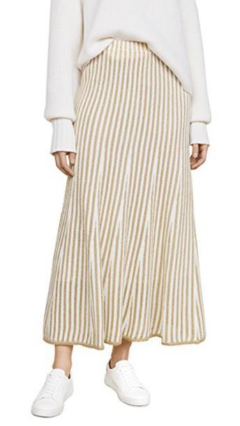 Adam Lippes skirt gold white