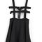 Black fashion ruffle pinafore skirt - abaday.com