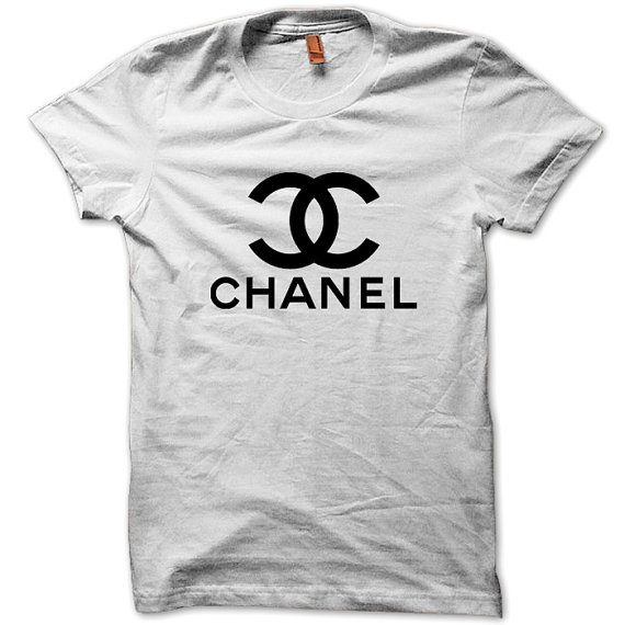 New Chanel Logo Mens Black White T Shirt Tee Cl02 By