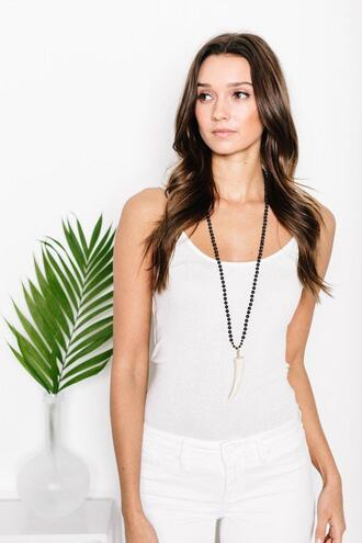 jewels tess and tricia black necklace bikiniluxe