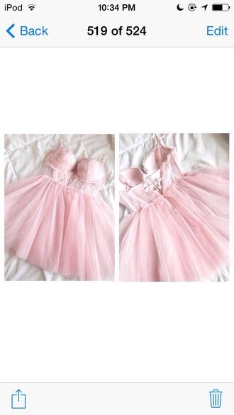 short dress pink dress pink corset dress see through dress puffy