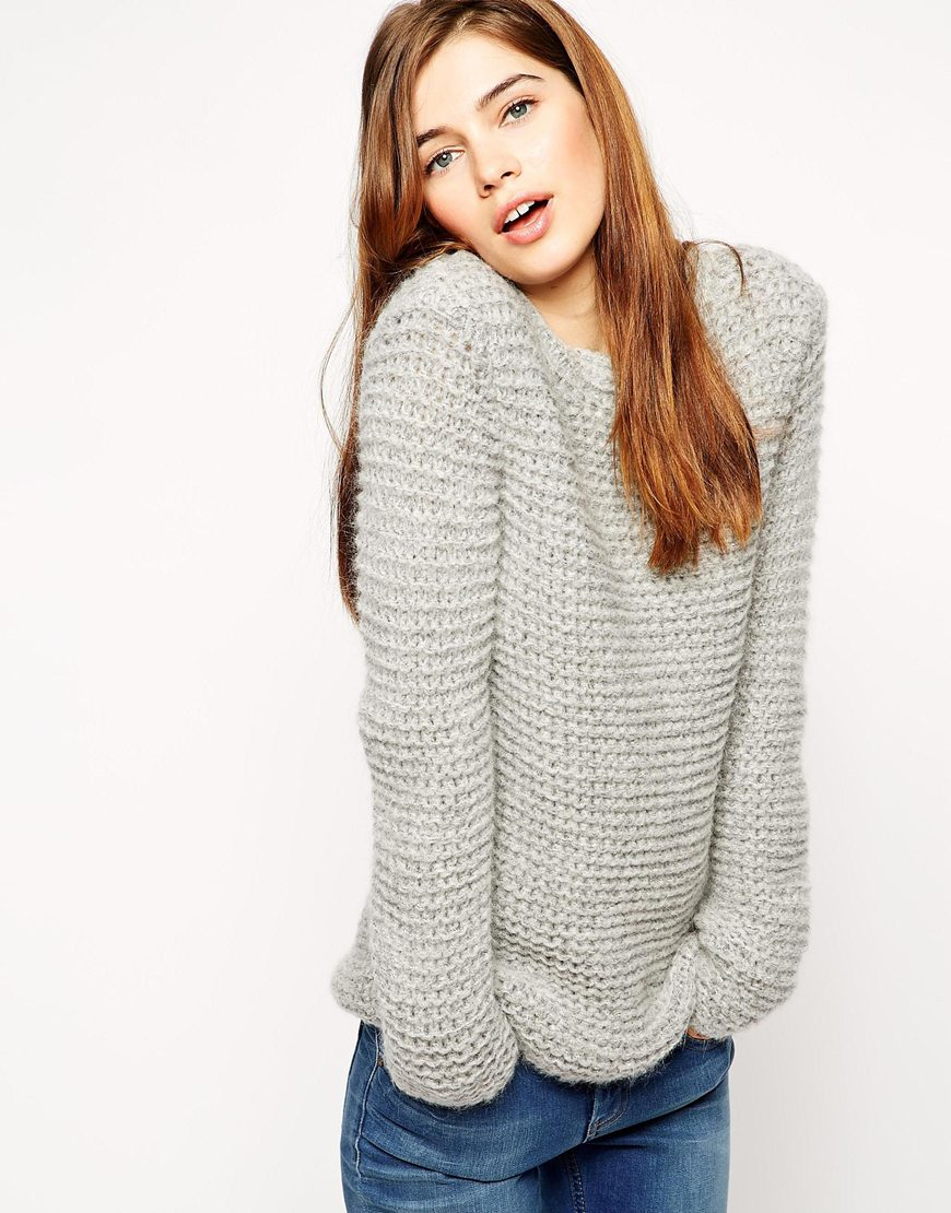 Asos jumper in chunky mohair stitch at asos.com