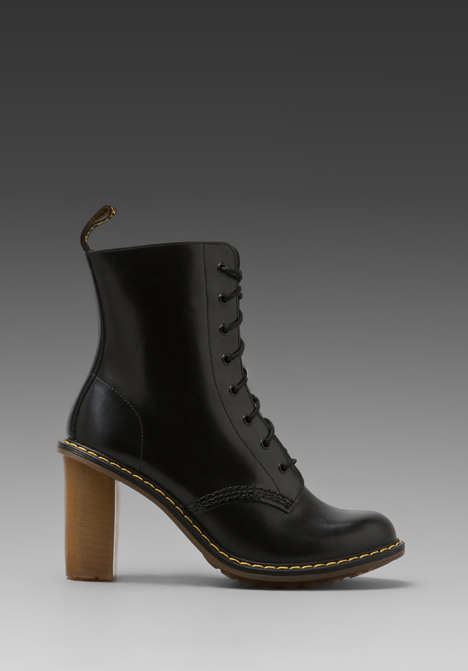 DR. MARTENS Sadie 8-Tie Boot PKB in Black at Revolve Clothing - Free Shipping!
