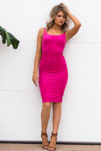 dress sexy sexy dress bodycon dress date outfit date dress valentines day babe trendy heels style fashion spring suede hot pink love