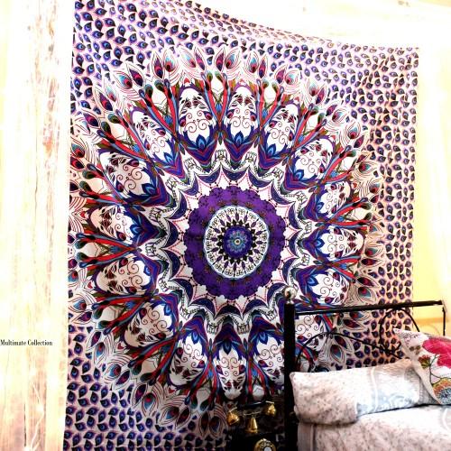 Huge Colorful peacock tapestry Indie tapestry boho blanket