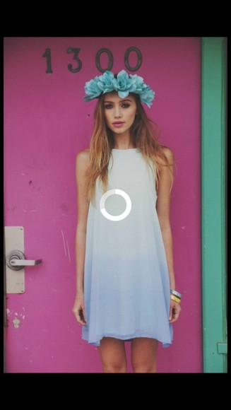 dress white dress ombré blue dress graduation dresses