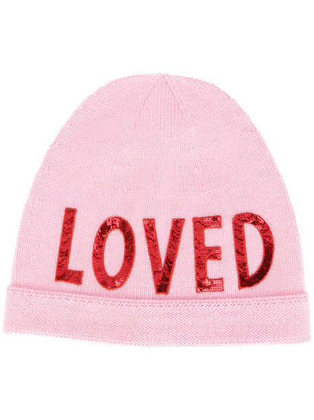 beanie purple pink hat