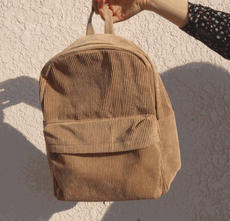 bag backpack beige