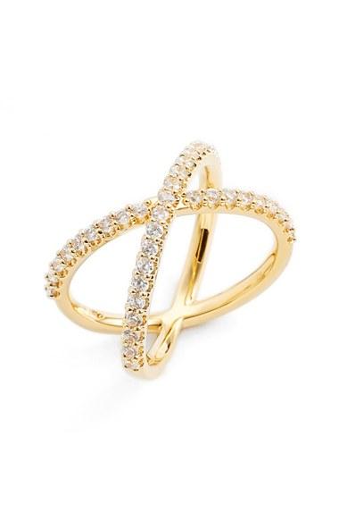 Nadri Crossover Cubic Zirconia Ring | Nordstrom