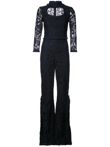 Alexis jumpsuit women spandex lace black