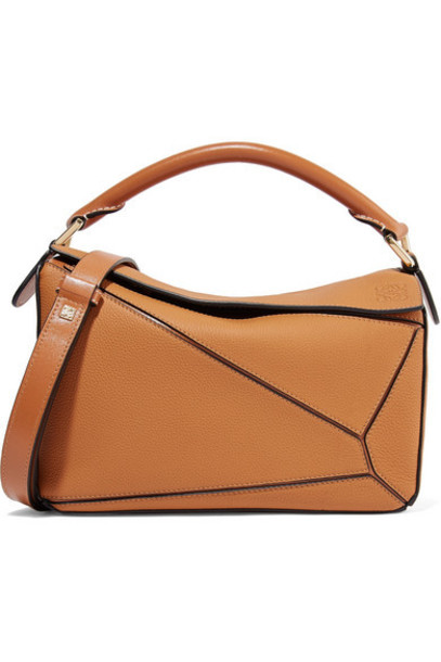 Loewe - Puzzle Small Textured-leather Shoulder Bag - Tan