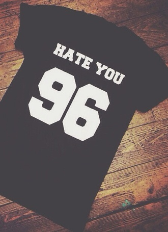fair trade young desinger 90 fashion 90 hate you hate you 2 t-shirt hate you 2 maximilianseitz fashion 90s style 90's shirt black fashion shirt