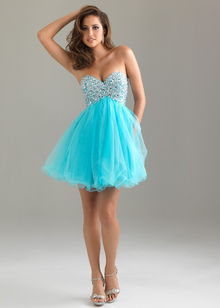 Moves 6487 - Blue Strapless Sweetheart Cocktail Prom Dresses ...