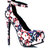 GJ | Garden View Ankle Strap Platforms $29.50 in BLACKNUDE - Ankle Straps | GoJane.com