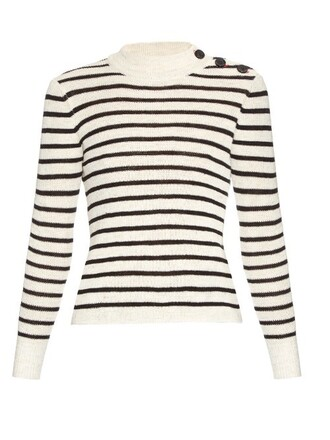 sweater striped sweater black cream