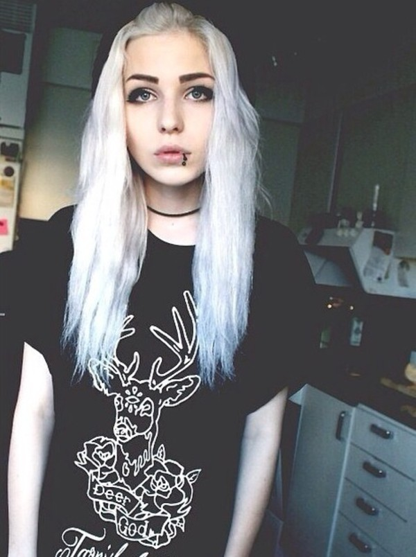 black t-shirt top pale grunge pale animal shirt
