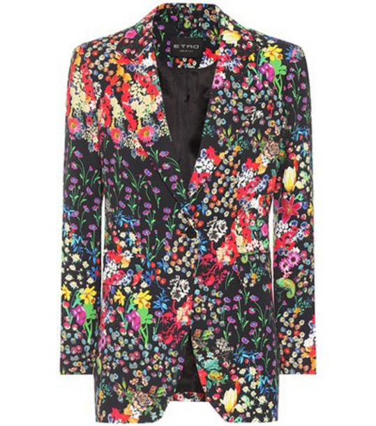Etro Floral-printed blazer