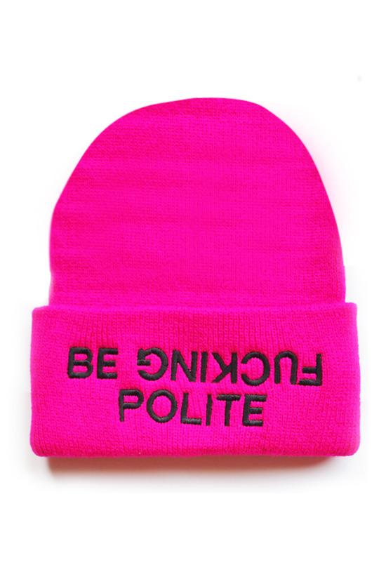 """BE F*CKIN' POLITE"" BEANIE | HELLZ shop"