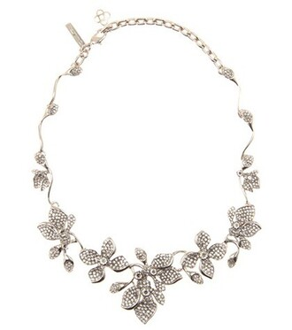 embellished necklace silver jewels