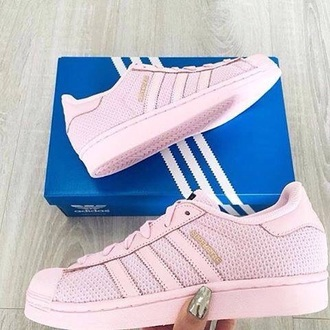 shoes adidas adidas superstars adidas pink pink sneakers