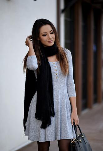 hapa time blogger dress bag tights instagram