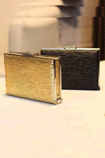 Metallic incrusted box clutch [FPB356] - PersunMall.com