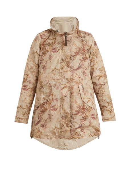 jacket shell print beige